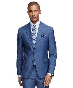 Milano Fit Tic Stripe 1818 Suit | Brooks Brothers