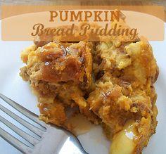 Pumpkin Bread Pudding- easy recipe