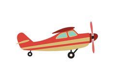 Airplane Flat Vector