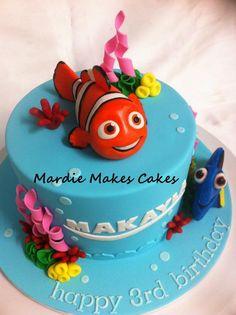 Nemo and a Dory cake (2 of 3)   www.facebook.com/MardieMakesCakes