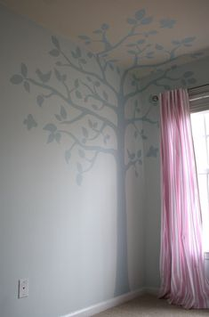 Something to try in Emily's room? Wouldn't matter if didn't turn out, could just paint over it.