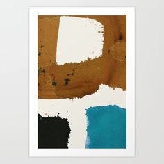 Gestural ink painting in brown, blue and black; related to mid-century minimalism and Japanese Shodo tradition (Japanese Zen calligraphy). Ink Painting, Buddhism, Minimalism, Zen, Original Paintings, Abstract Art, Mid Century, Calligraphy, Japanese