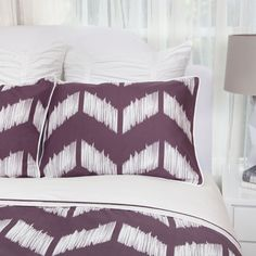 Bedroom inspiration and bedding decor   The Addison Purple Duvet Cover   Crane and Canopy