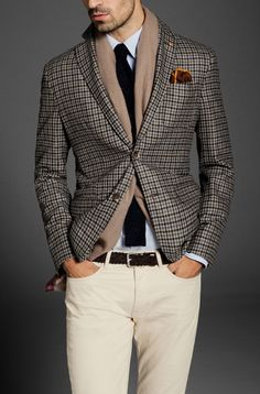 FANTASY CHECK BLAZER LOOK by Massimo Dutti