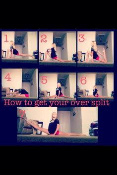 Oversplit Tips! This will help! To get your oversplits faster check out ERICA LI. Cheerleading Highlights Part 1 Cheer Stretches, Dance Stretches, Middle Splits Stretches, Cheer Flexibility, Flexibility Workout, Streches For Flexibility, Dancer Workout, Gymnastics Workout, Gymnastics Stretches
