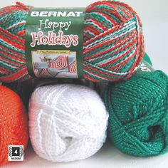 ホリデーカラーにラメツイストBernat - Happy Holidays