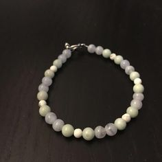 Amazonite, White Howlite, and Blue Lace Agate Bracelet