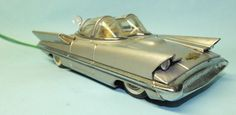 ALPS LINCOLN FUTURA CONCEPT CAR TIN BATTERY OPERATED REMOTE CONTROL TOY w/Lights #Alps
