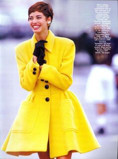The News Is Colour from……………..Vogue Sept 1990