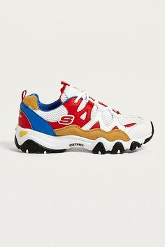100% authentic ff8e1 b6d7d Skechers D Lites One Piece Red Trainers Collection De Chaussures, Femmes De  Urban Outfitters