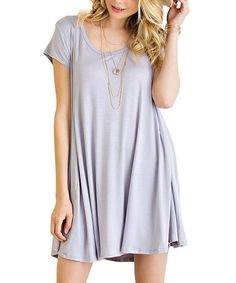 This Lilac Cutout-Back Shift Dress is perfect! #zulilyfinds