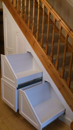 Photos of Under Stairs Storage 038 Attic Storage Understairs Storage Attic CleverClosetsie pant Photos stairs storage Shoe Storage Under Stairs, Under Stairs Storage Solutions, Staircase Storage, Attic Storage, Hidden Storage, Closet Storage, Space Under Stairs, Under Stairs Pantry Ideas, Hall Storage Ideas
