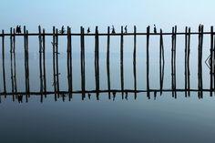 """U-Bein Bridge"" by Pascal Mannaerts #art #artphotography #photography #tictacartcollection #ubein #taungthaman #amarapura #myanmar #pascalmannaerts"