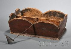 Skinner - American Furniture & Decorative Arts -   GRAIN PAINTED KNIFE BOX 19TH CENTURY SOLD  $475.00