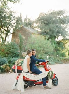 Wedding Vespa, photo by KT Merry Photograph