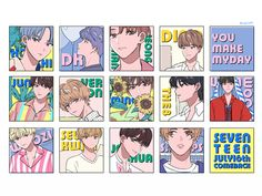 Listen to every Seventeen track @ Iomoio Jeonghan, Wonwoo, Woozi, Printable Stickers, Cute Stickers, Seventeen Wallpapers, Kpop Fanart, Aesthetic Stickers, K Pop