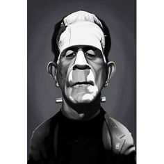 "East Urban Home 'Vintage Celebrity Sunday Series: Boris Karloff' Graphic Art Print on Canvas Size: 12"" H x 8"" W x 0.75"" D"