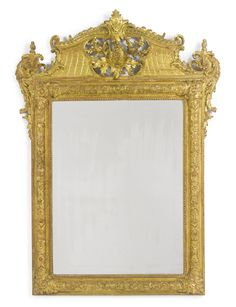 A Régence carved giltwood mirror possibly South German, circa 1720 Sotheby's