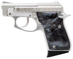 25 automatic pistol   TAURUS 25 .25 ACP PISTOL WITH BLACK PEARL GRIPS