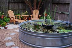 galvanized trough koi pond - Google Search