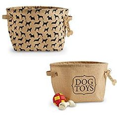 Mud Pie Dog Toy Baskets (Set of 2)