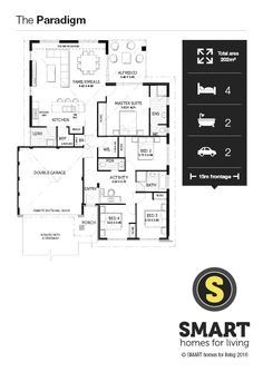 The Discovery By Smart Homes For Living. A 15m Frontage Home Design That  Features Four
