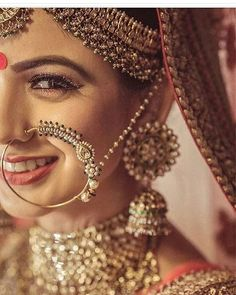 """(@shaadimagic) on Instagram: """"That #NoseRing & #Smile  . DM wedding date for free wedding planning !! . Different Types Of…"""""""