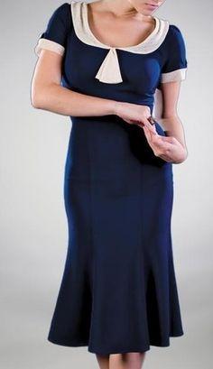 Stop Staring Railene Dress Navy Blue Retro Pinup Vintage Style #Rockabilly #Fashion #SummerDresses #FREEShipping #Retro #VintageStyle #StopStaringDress