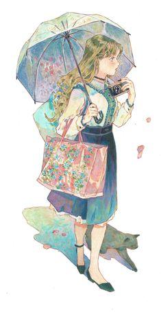"""My favorite color 🌿"" Anime Art Girl, Manga Art, Pretty Art, Cute Art, Aesthetic Art, Cute Drawings, Art Sketches, Art Inspo, Art Reference"