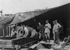 SOMME OFFENSIVE WESTERN FRONT 1916 (Q 80284) French 370mm howitzer, loading position, with breech closed. Ravin de Proyart, Somme 23 June 1916.
