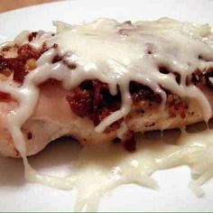 Healthy And Happy! — Cheesy Bacon Garlic Chicken   Yummy and Low Carb...