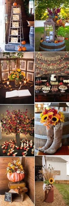 creative and pretty fall wedding reception decoration ideas wedding diy 50 + Genius Fall Wedding Ideas You'll Love to Try Fall Wedding Centerpieces, Fall Wedding Bouquets, Fall Wedding Flowers, Fall Wedding Colors, Wedding Reception Decorations, Autumn Wedding, Diy Wedding, Wedding Ideas, Reception Ideas