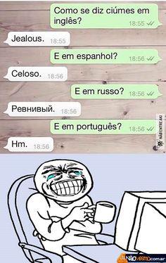 o ciúmes em diversas línguas.....