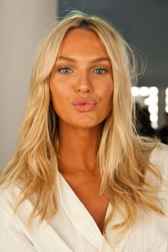 perfectly done natural makeup.