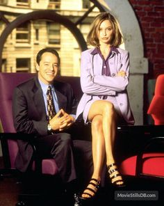 """""""Ally McBeal"""" Gil Bellows and Calista Flockhart"""