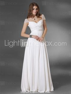 Lots of pretty dresses on this site, plus good reviews.  TS Couture® Prom / Formal Evening / Military Ball Dress - Sexy Plus Size / Petite A-line / Princess Off-the-shoulder / V-neck Floor-length Chiffon 2017 - $89.99