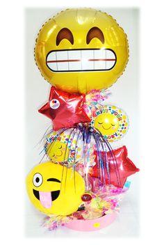 Arreglo Especial Cumpleaños Emojins Cojín!! www.globocentro.com.gt