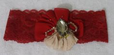 Wedding Garter,Red Lace Bridal Garter,Wedding Accessory,Bridal Lingerie,Wedding Lingerie by byPassion on Etsy