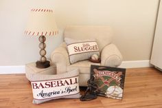 Baseball room accessories