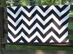 start with striped fabric, make chevron!