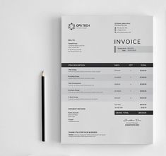 Invoice Template   Invoice Design   Receipt   MS Word Invoice     This Clean Invoice will help you in your business to save time  organize  you product data and customers info and easily generate the invoice by  inserting