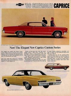 1966 Chevrolet Caprice Custom Coupe, Wagon, and Sedan
