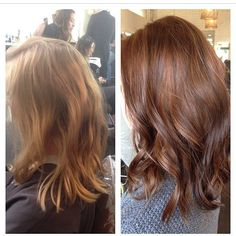 blonde to auburn before and after - Google Search