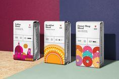 Coffee Packaging, Coffee Branding, Food Packaging, Design Packaging, Bottle Packaging, Packaging Ideas, Sirha Lyon, Coca Cola, Communication