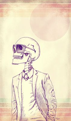 Hipster skeleton, dead before it was cool.