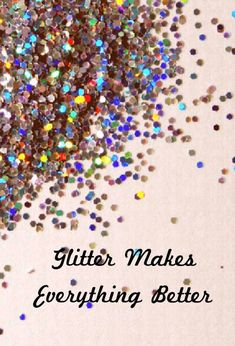 Glitter makes everything better ----- You bet it does! We love sparkle and glitter more than anything. ----- At GlittErasable, we thought whiteboards were boring, so we make glitter dry erase boards full of shine & personality. Take a look at our Etsy store: www.etsy.com/shop/GlittErasable