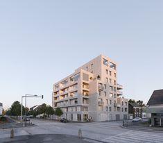 35 logements + activités_RENNES - Agence a/LTA architectes - urbanistes Le Trionnaire (x2) - Tassot - Le Chapelain Triangle, Multi Story Building, Rennes, Architects
