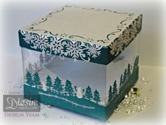 Sandie Gough - Die'sire Edge'ables Christmas Snowflake and Christmas Garden - Crafter's Companion Acetate, Centura Pearl Hint of Silver & Teal - Nordic Christmas Embossing folder: Christmas Jumper - Crafter's Companion Red Liner Tape - Collal Tacky glue - #crafterscompanion #Christmas