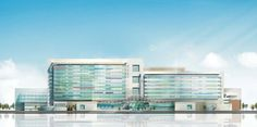 Suzhou Children's Hospital / HKS,south elevation