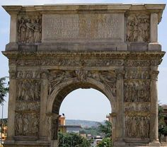 roman arches | benevento pictures, arch of trajan, benevento roman arch picture